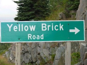 Sign-Yellow Brick Road