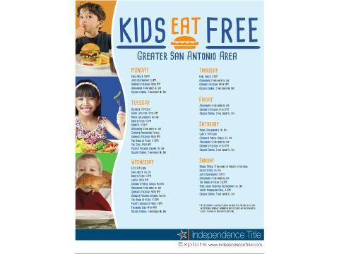 Kids Eat Free 2015