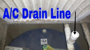 STEP 1: Find your A/C drain line. Remove the plastic cap with a simple twist and pull.
