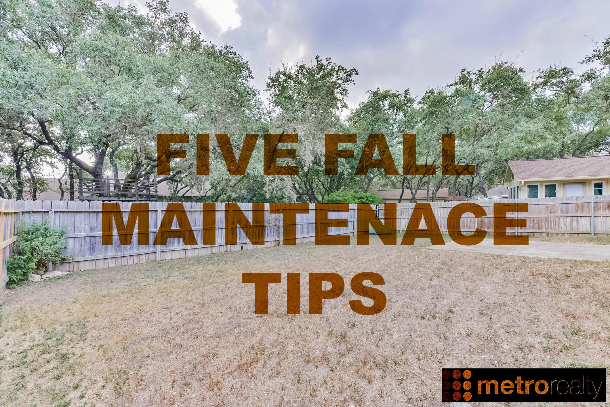 5 FALL MAINT TIPS
