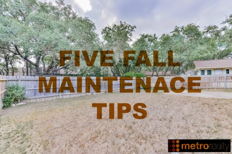 5 FALL MAINT TIPS