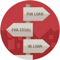 mortgage options fha va 203k arrows