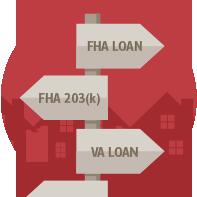 mortgage options fha va 203k arrows